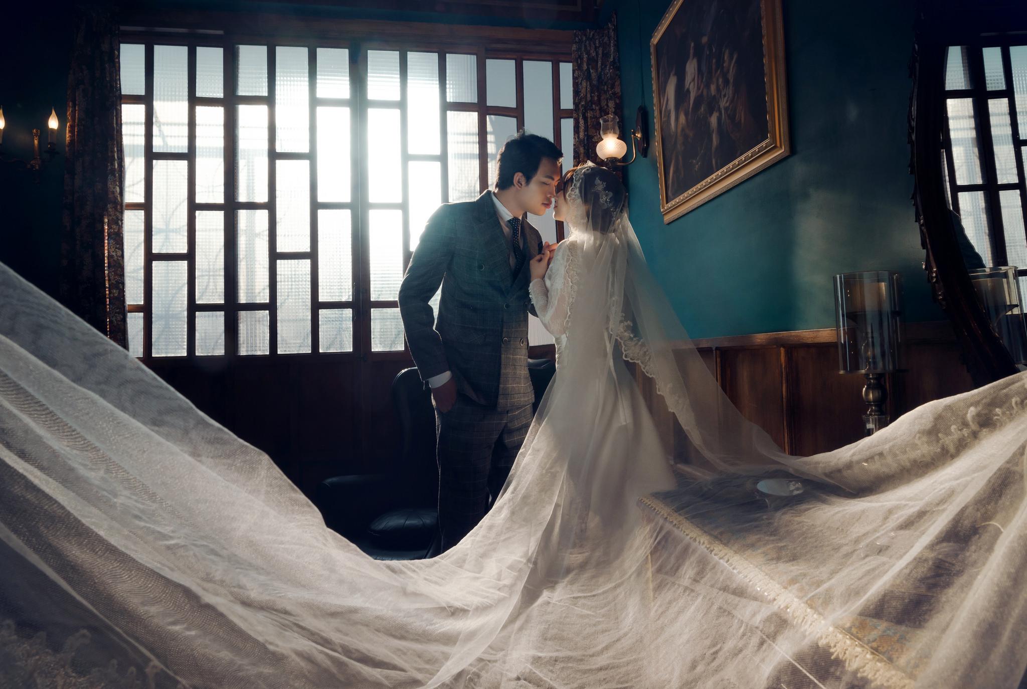 台中婚紗,復古,街拍,韓式婚紗
